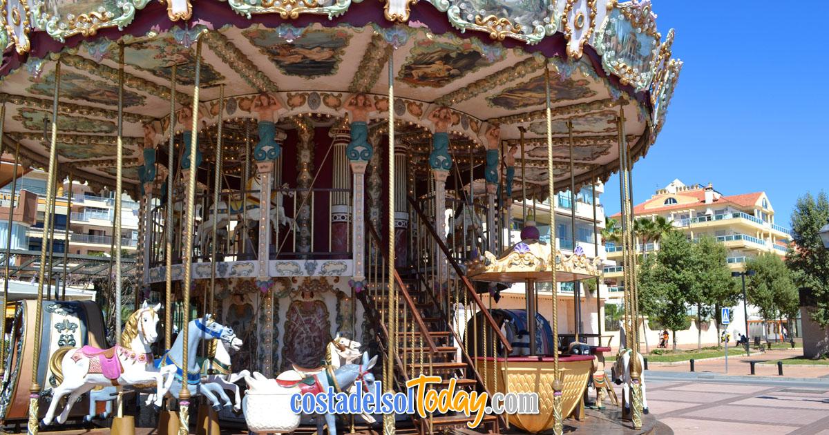 The Carousel on the Paseo Maritimo, Fuengirola, Costa del Sol, Spain