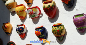 Wall Mounted Ceramic Flower Pots - So Much Colour in Mijas Pueblo, Mijas Costa, Andalucia, Spain OG01